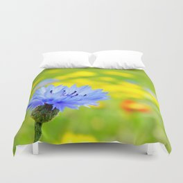 Bachelor's Buttons Flower Duvet Cover