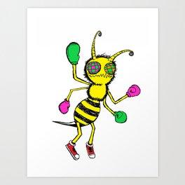 Boxin' Buster Bee Art Print