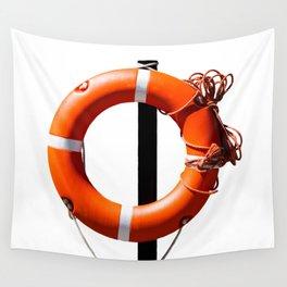 Orange live saving ring Wall Tapestry