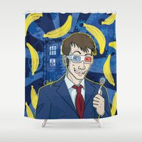 doctor who Shower Curtains featuring DOCTOR WHO by Chouly-Shop