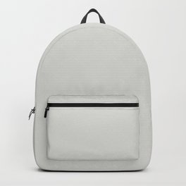 Foggy Morning Ultra Pale Gray Solid Color Pairs to Sherwin Williams Fleur de Sel SW 7666 Backpack