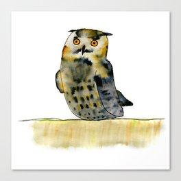 Edward the Eagle Owl Canvas Print
