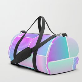 Abstract Holographic Pastel Pattern Duffle Bag