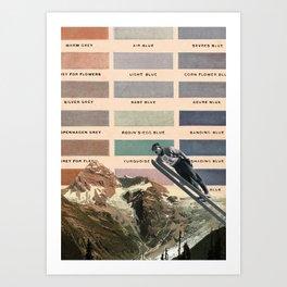 Ski Art Print