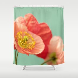 Pastel Poppy #1 Shower Curtain