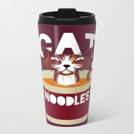 Cat Noodles Metal Travel Mug