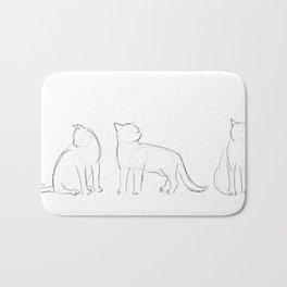 cat contours Bath Mat