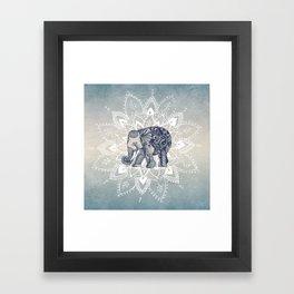 Elephant  Mandala Framed Art Print