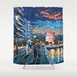 Greece: Thessaloniki In Memory Shower Curtain