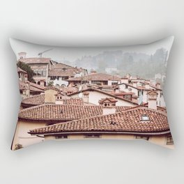 Bergamo rooftops - horizontal Rectangular Pillow