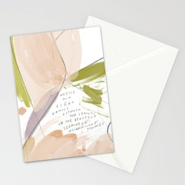 """""""Notice How Light Dances Between The Leaves, Oh The Beauty Of Seemingly Insignificant Things."""" Stationery Cards"""
