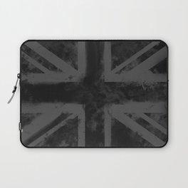 Black UK Flag Laptop Sleeve