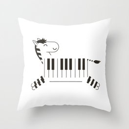 Life is like a piano Throw Pillow