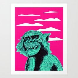 Bonobo Smile Art Print