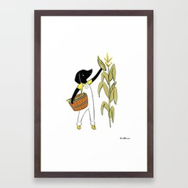 Sato Farmer (Dogs with Jobs series) Framed Art Print