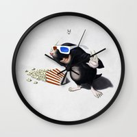 3d Wall Clocks featuring 3D by rob art | illustration