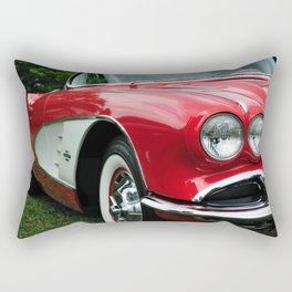 Red Corvette Rectangular Pillow