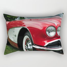 Red Corvette Rectangular Pillow
