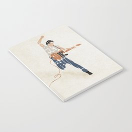 Typography Art of Boss of the Rock Bruce Frederick Springsteen Notebook