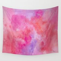 valentine Wall Tapestries featuring Valentine by HollyJonesEcu