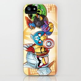 Angry Birds Avengers iPhone Case