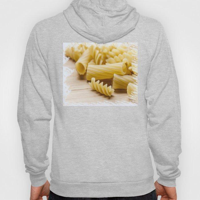 Italian pasta on a wooden table Hoody