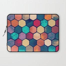 Textured Hexagon Pattern Laptop Sleeve