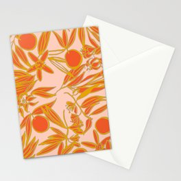 Orange Blossoms on Peach Stationery Cards