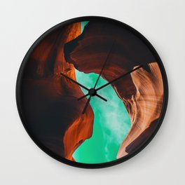 Colorful canyon sky Wall Clock