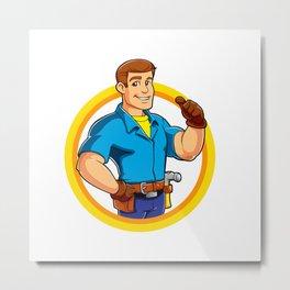Handyman and Work Tool Metal Print