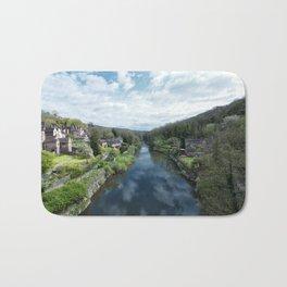 View from a Bridge Bath Mat