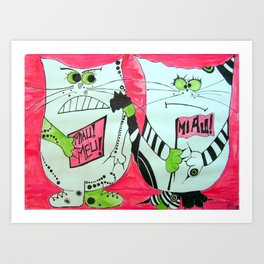 Protesters Art Print