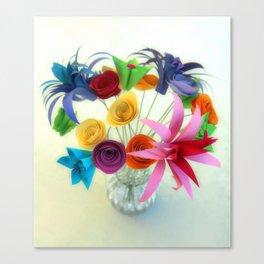 Paper Bouquet Canvas Print