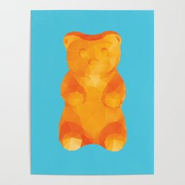 Gummy Bear Polygon Art Poster