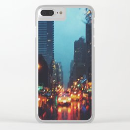 Rainy NYC Clear iPhone Case