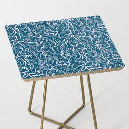 Movin' and Shakin' Teal/Pink Side Table