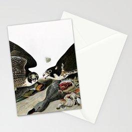 12,000pixel-500dpi - Peregrine Falcons Drawn - John James Audubon Stationery Cards