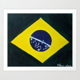 brazilian flag Art Print