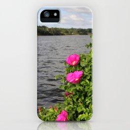 Seaside Wild Roses iPhone Case