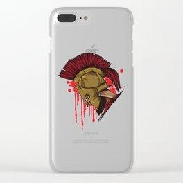 Spartan Warrior | Sparta Head Fighter Spartiate Clear iPhone Case