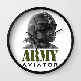 Army Aviator Military Pilot Wall Clock