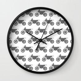 Grey Dirt Bikes Wall Clock