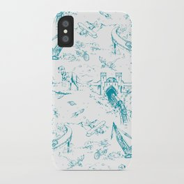 ADVENTURE TOILE BLUE iPhone Case