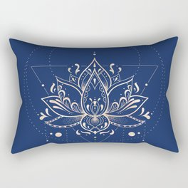 Lotus Dark Rectangular Pillow