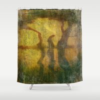 shih tzu Shower Curtains featuring REFLECTIONS ON LAO TZU by emotionalorphan