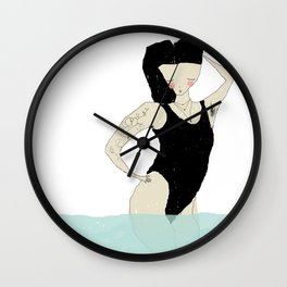 When the salty water flirts with you Wall Clock