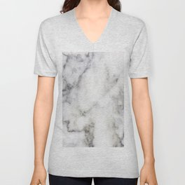 Gray Marble Print Unisex V-Neck