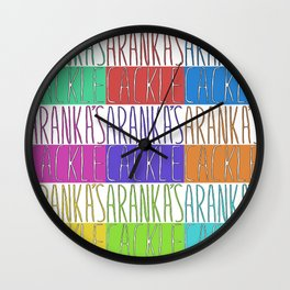 Aranka's Cackle Wall Clock