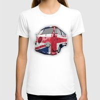 vw T-shirts featuring VW UK Flag by Alice Gosling