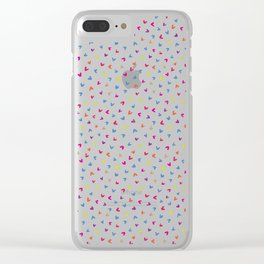 Black Rainbow V Pattern Clear iPhone Case